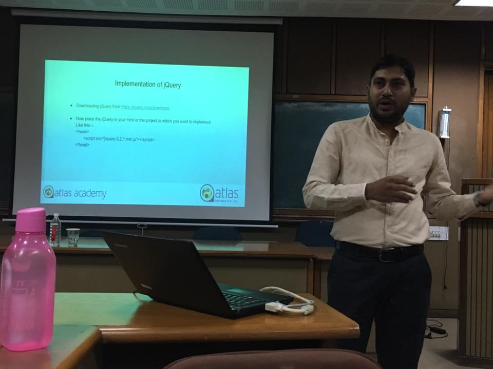 Atlas Academy workshop Nirma-University